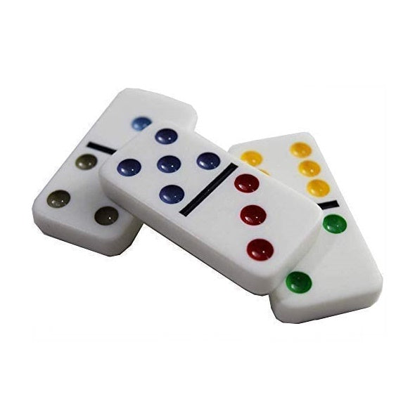 Regal Games Double 6 Dominoes in Reusable Tin Case