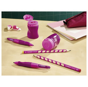STABILO Easy Sharpener Right/ Left Handed - Blue / Lilac 三合一左右手專用筆刨