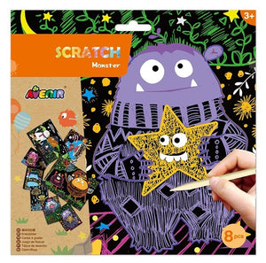 Scratch - Construction / Transportation / Monster / Space / Animal 經典刮畫製作