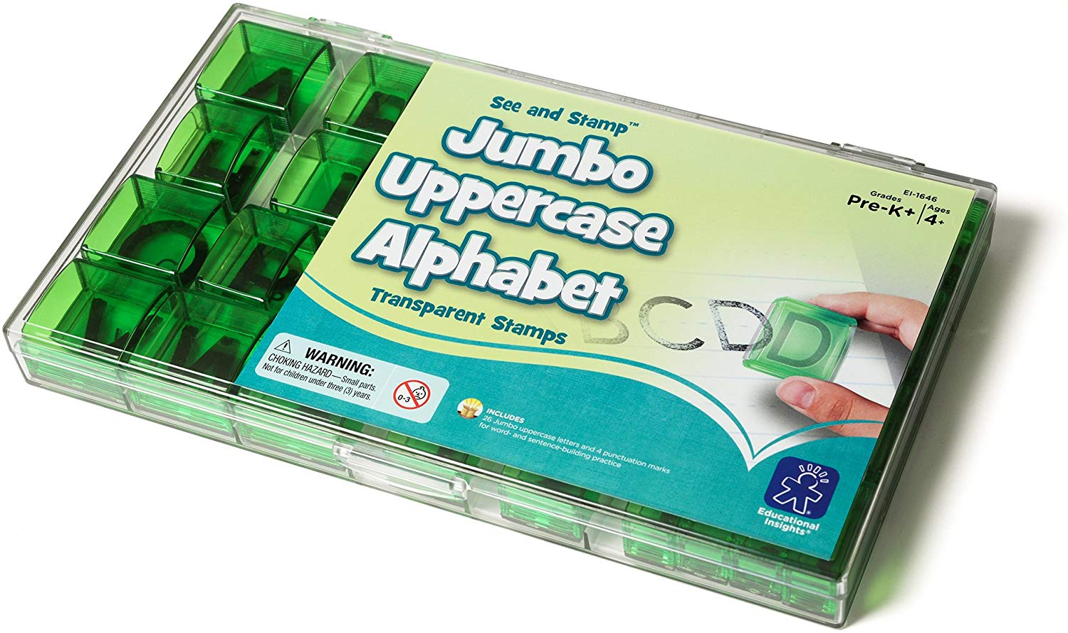 See And Stamp Jumbo Uppercase Alphabet Stamps 特大透明大階字母印仔