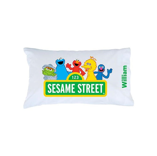 Sesame Street Sign Personalized Pillowcase
