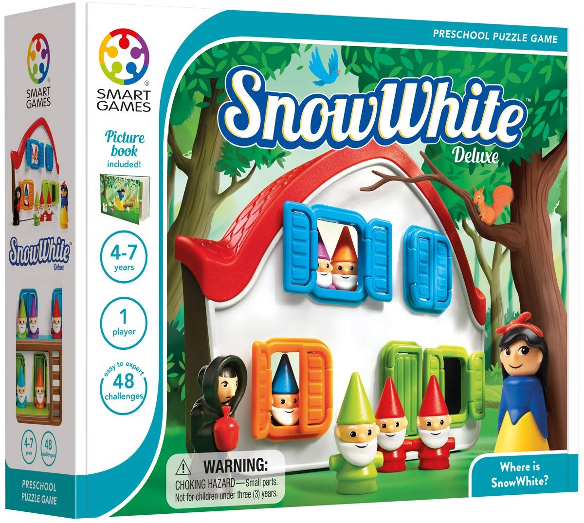 Smart Games Snow White Deluxe Logical Training Game  白雪公主與小矮人過關遊戲 - 邏輯推理