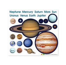 Load image into Gallery viewer, Solar System Magnetic Wall Sticker Set 磁石牆貼+25 件太陽系星球磁石貼