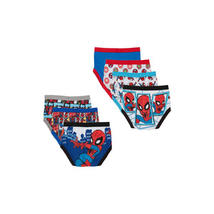 Spider-Man Toddler Boys Brief Underwear, 7-Pack (4T)