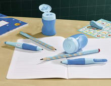 Load image into Gallery viewer, STABILO Easy Sharpener Right/ Left Handed - Blue / Lilac 三合一左右手專用筆刨