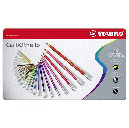 Stabilo CarbOthello Chalk-Pastel Colored Pencil, 4.4 mm - 48-Color Set