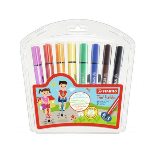 Stabilo Trio Scribbi Pencil , Set of 8 / Set of 12  彈弓筆咀三角易潔水筆