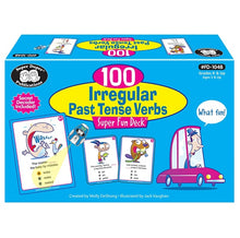 Load image into Gallery viewer, 100 Irregular Past Tense Verbs Super Fun Deck Flash Cards 不規則過去式動詞
