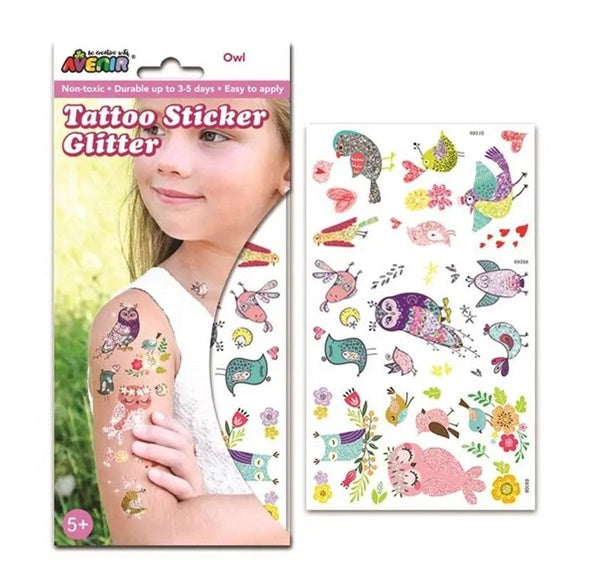 Avenir Tattoo Sticker with Glitter, large 閃閃紋身貼紙套裝