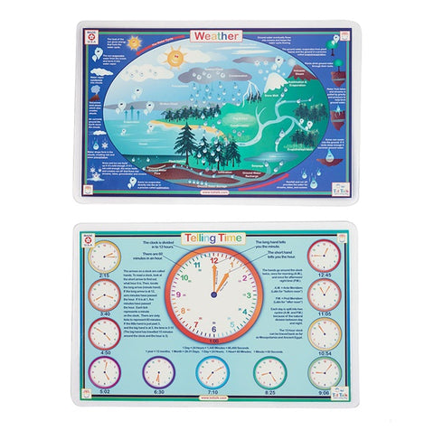 Telling Time & Weather Activity Place Mat