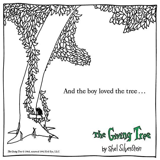 The Giving Tree Hardcover, teaches generosity or unselfishness 愛心樹-硬皮書, 經典兒童圖書, 犧牲奉獻, 友誼, 真愛