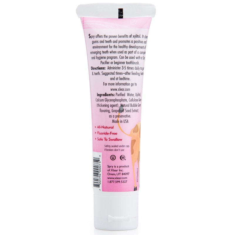Kid's Spry Tooth Gel, with Xylitol, 2.0 fl oz (60 ml)  BB 牙膏