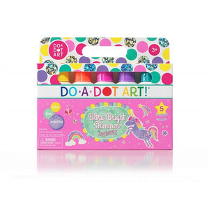 Do-A-Dot Ultra Bright Shimmer Washable Markers Set of 5 colors 海綿頭顏色/ 海綿頭點點筆「閃粉五色」