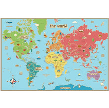 Load image into Gallery viewer, Wall Pops WPE0624 Kids World Dry Erase Map Decal Wall Decals