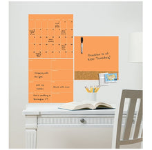 Load image into Gallery viewer, WallPops WPE2054 Neon Tangerine Orange 3 Piece Combo Set