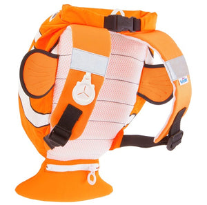Water-Resistant Swim & Gym Bag – PaddlePak Chuckles ClownFish (Orange)