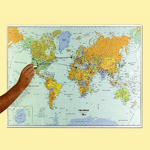 World Dry Erase Map Decal