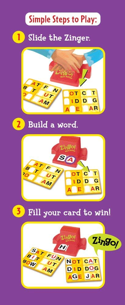 Zingo Word Builder Early Reading Game