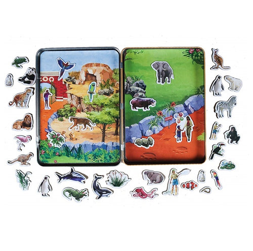 Zoo Magnetic Tin Playset