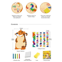 Load image into Gallery viewer, Magnetic Wall Chalkboard - Unicorn / Tiger 黑板磁石牆貼套裝  獨角馬 / 老虎