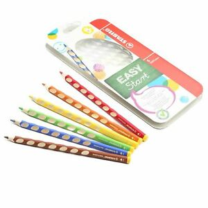 EASYcolors Colouring Pencils Right / Left Handers  - (Wallet of 6) 左/ 右 手專用三角木顏色筆 - 六色