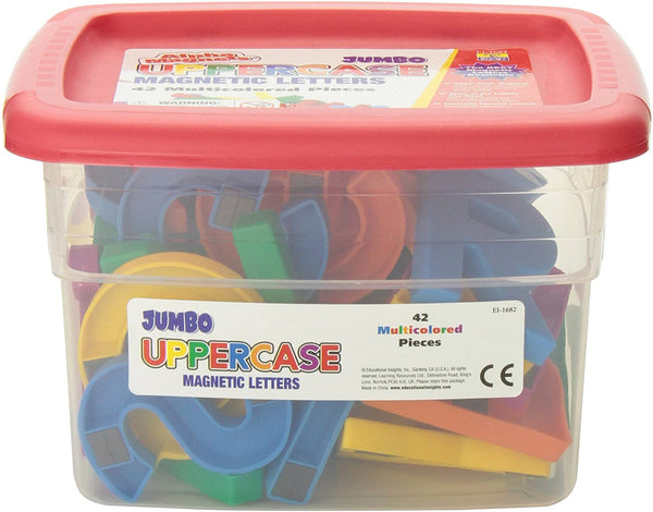 Jumbo Multicolor Uppercase AlphaMagnets - Set of 42 特大字母磁石貼 - 大階