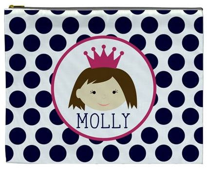 【Pre-order 預訂, 25/2截單】Personalized Cosmetic / Pencil bag, Printed in USA 自定名字拉鏈袋 - 👑 GIRLS 系 列