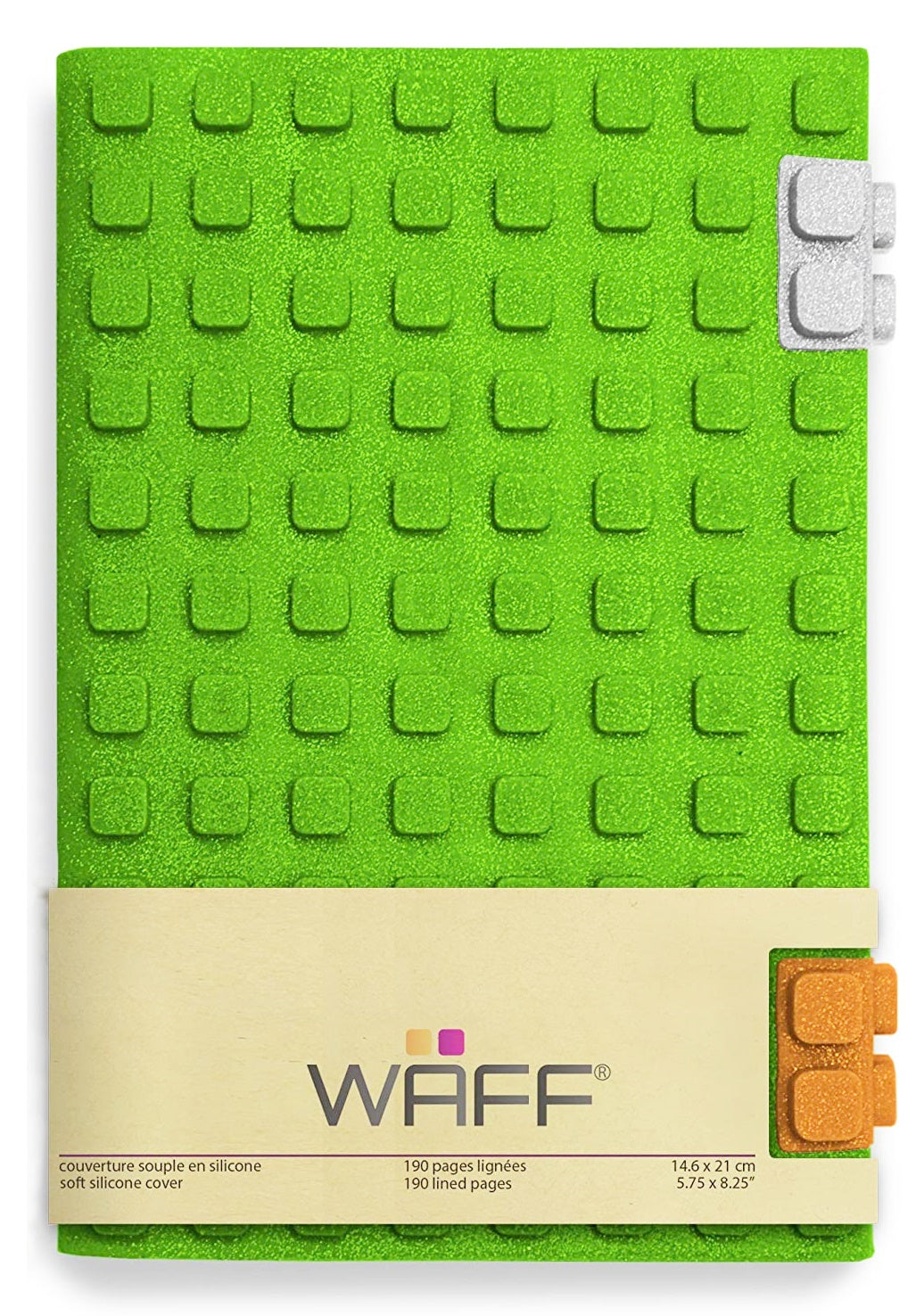 WAFF Silicone Cover Notebook / Journal (Large) 矽膠拼字外套連日記手帳 (大單本)