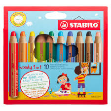 Woody Coloring Pencils with Sharpener - Pack of 6 防折斷 3 合 1 顏色筆 - 6色