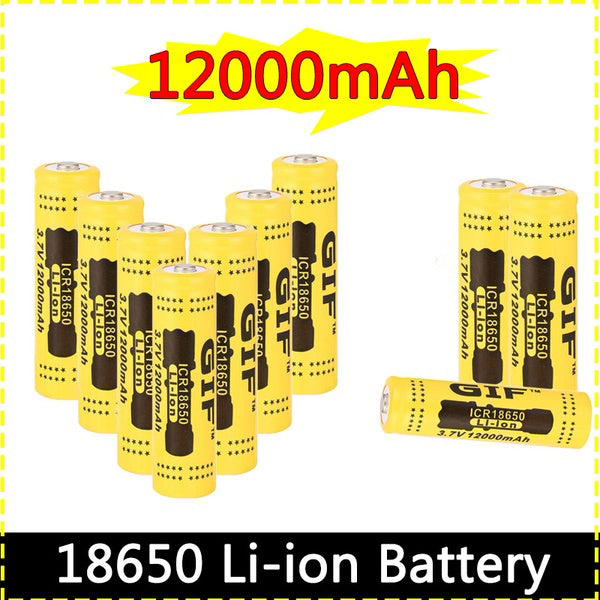 18650 Battery 3.7V 12000mAh Vape Battery Rechargeable Li-ion Batteries Set