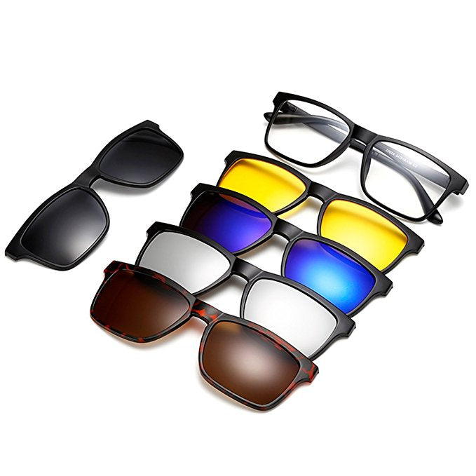 5 in 1 Magnetic Lens Swappable Sunglasses(Free Shipping)