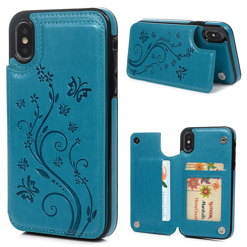 Butterfly Flower Pattern 3 In 1 Luxury Leather Case For Samsung