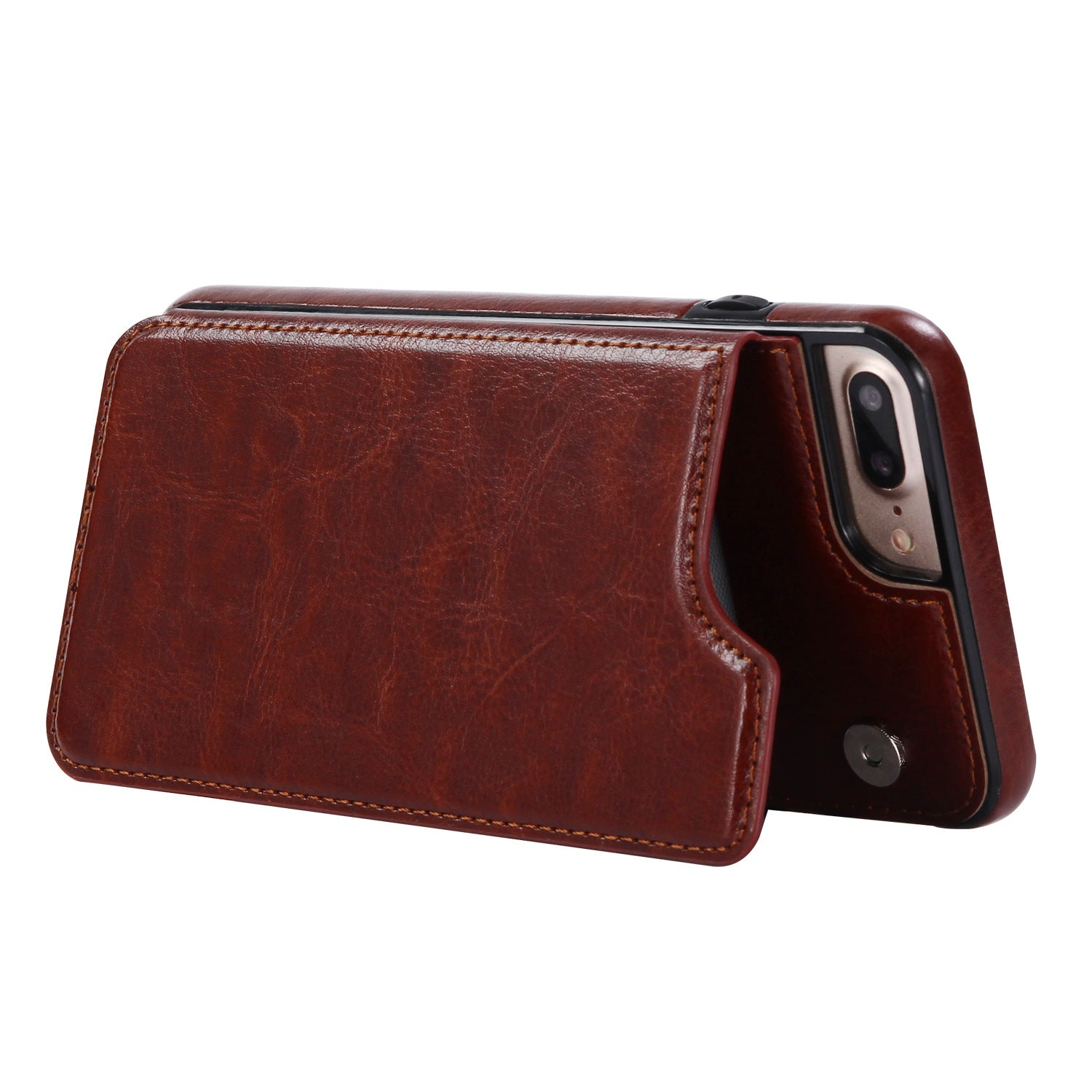 3 In 1 Luxury Leather Wallet Case For Iphone