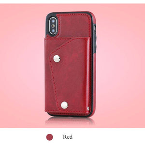 Case &Holder& Wallet 3 In 1 Luxury Leather Case