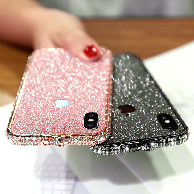 Diamond Phone Case Bling Diamond Metal Bumper Case Glitter Sticker