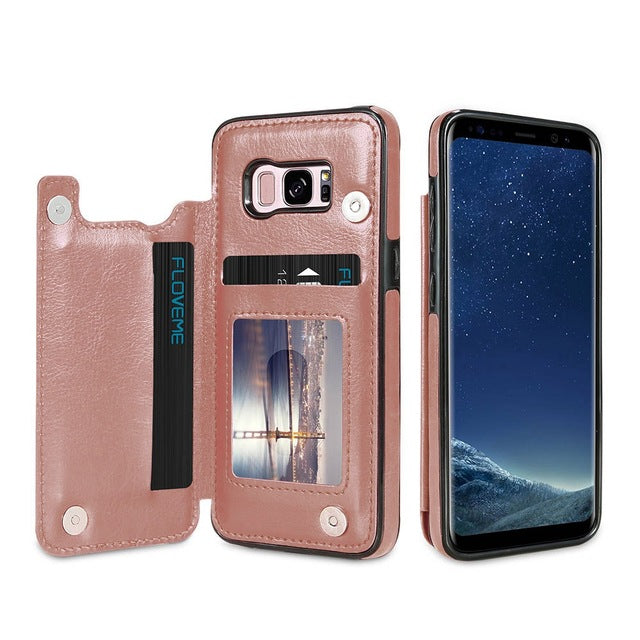 3 In 1 Luxury Leather Case For Samsung
