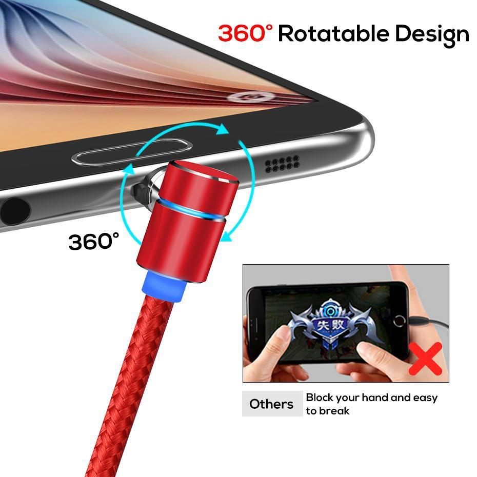 360 Rotating Magnetic 3 in 1 Charging Cable