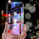 Transparent 9H Glass Phone Case For iPhone Clear Ghost Case