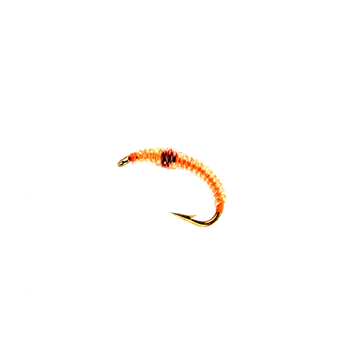 Hot Orange Caddis Larva