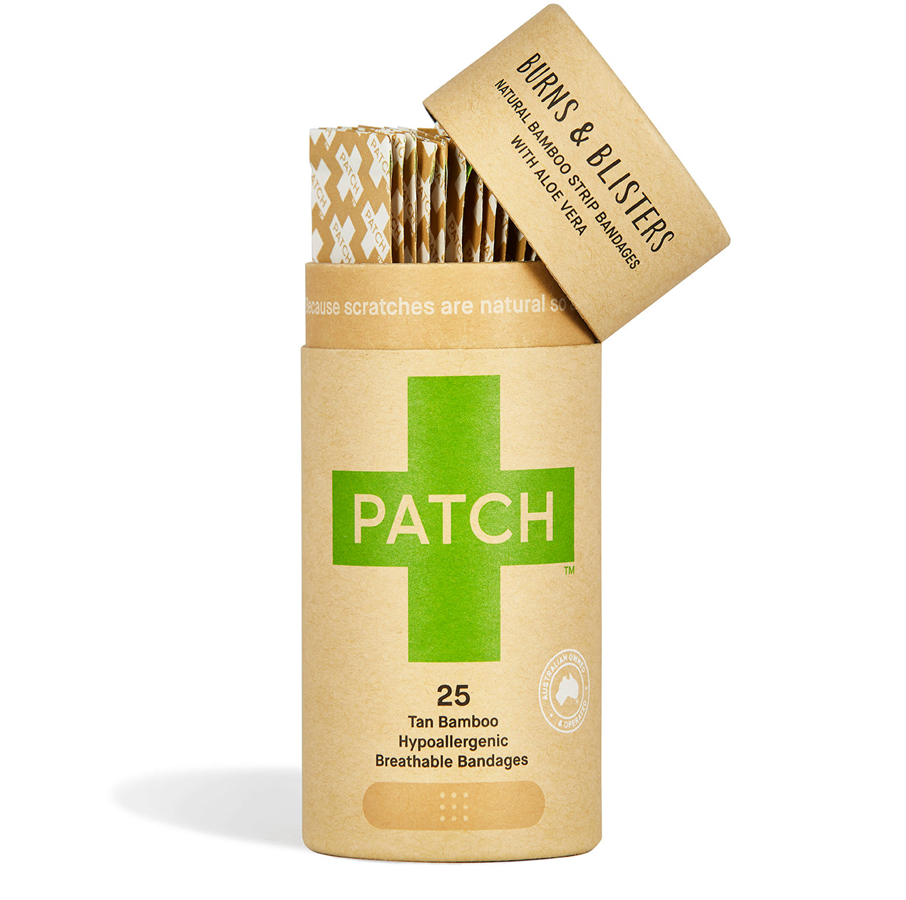 PATCH - Natural Bamboo Bandages for Burns & Blisters