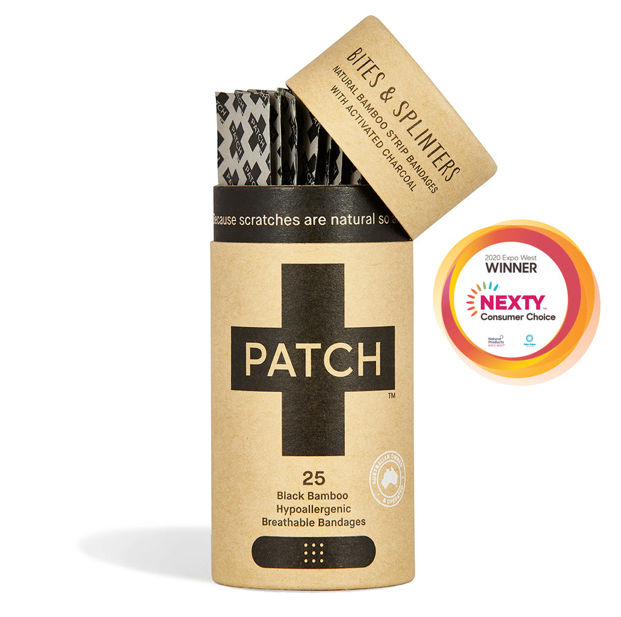 PATCH Activated Charcoal Adhesive Bandages Tube of 25