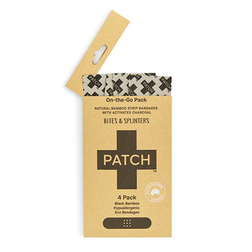 PATCH Charcoal 4 pack of Bamboo Bandages for 'On-The-Go'