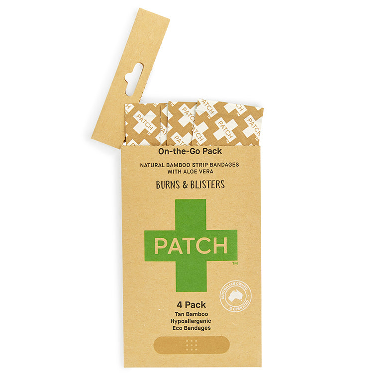 PATCH Aloe Vera 4 pack of Bamboo Bandages for 'On-The-Go'