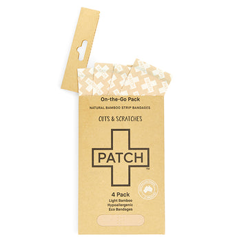 PATCH Natural 4 pack of Bamboo Bandages for 'On-The-Go'