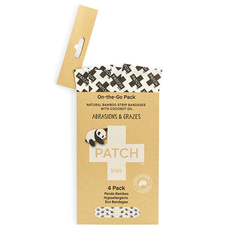 PATCH Coconut Oil 4 pack of Bamboo Bandages for 'On-The-Go'