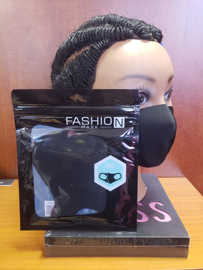 "5pc Disposable Mask with ""FREE"" Black Reusable Cloth Fashion Mask Pack - MSWCUSTOMPRINTS / LADYGRIND.COM"
