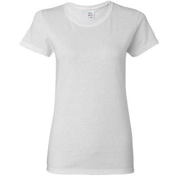 LADIES- Cotton Short Sleeve T-Shirt  (CUSTOMIZE DESIGN)