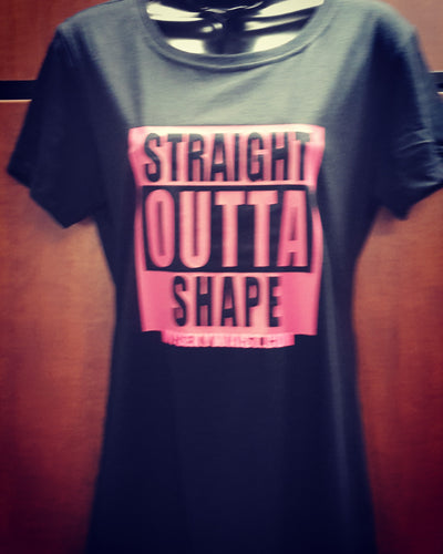 STRAIGHT OUT OF( YOUR TEXT) T-SHIRT