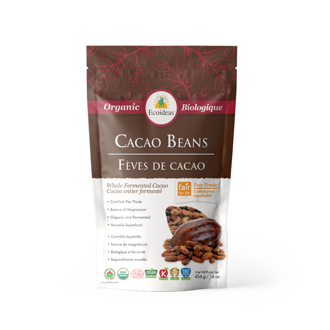 Organic Fair Trade Cacao Beans - (454g)²