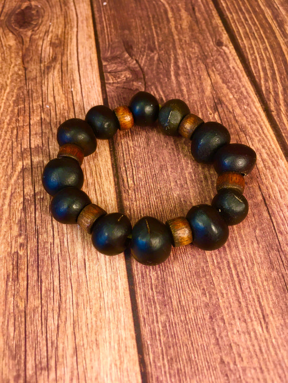 Soap Nut Seed Bracelet Brown